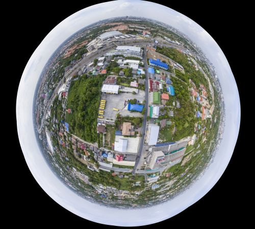 Phantom DJI-4 panorama at the Cowboy Restaurant in Nontaburi