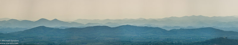 Panoramic view from the top of Phu Tok