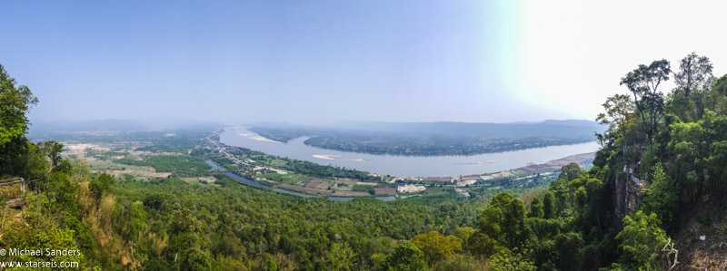 View over the Mekong River at Wat Pha Tak Suea
