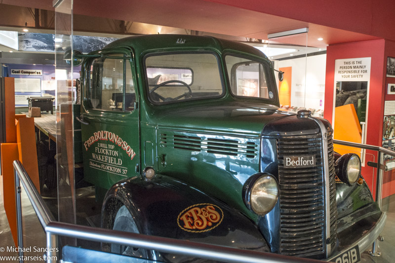 Bedford truck in the National Coal Mining Museum
